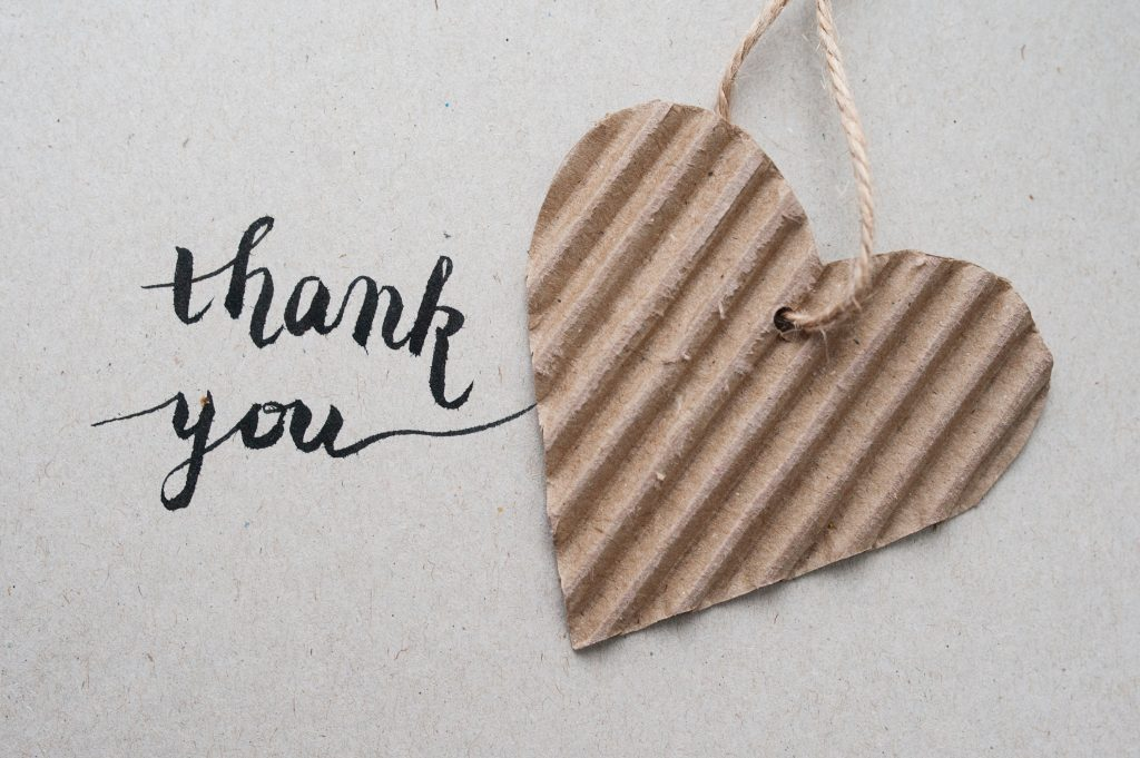'thank You' Hand Lettering - Handmade Calligraphy And He